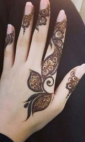 Best Beautiful Finger Henna Designs Fashion Beauty