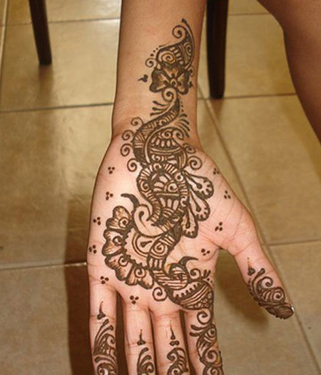 Arabic Peacock Design Mehndi