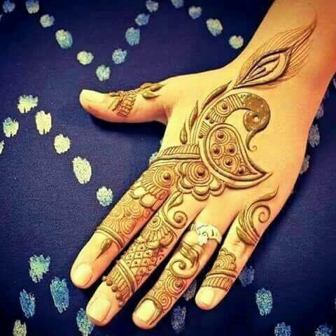 Beautiful Peacock Mehndi Designs For Hands Fashion Beauty Mehndi