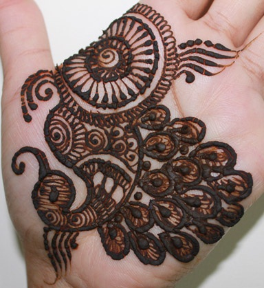 simple Peacock Design Mehndi