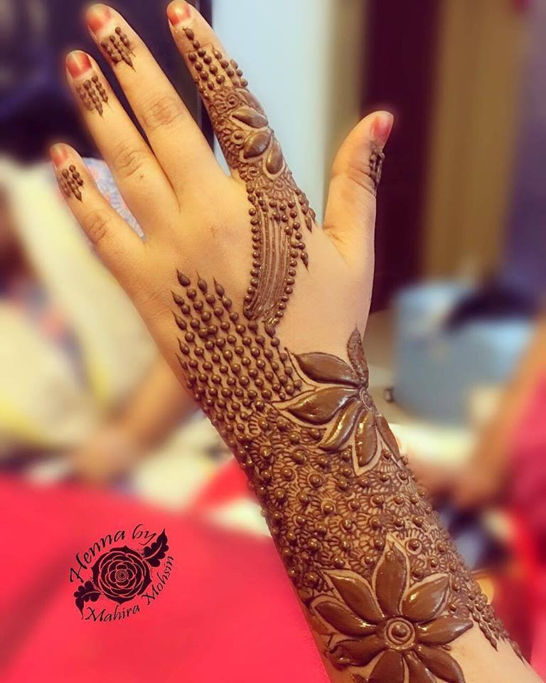 Best Hand Back Side Mehndi Design