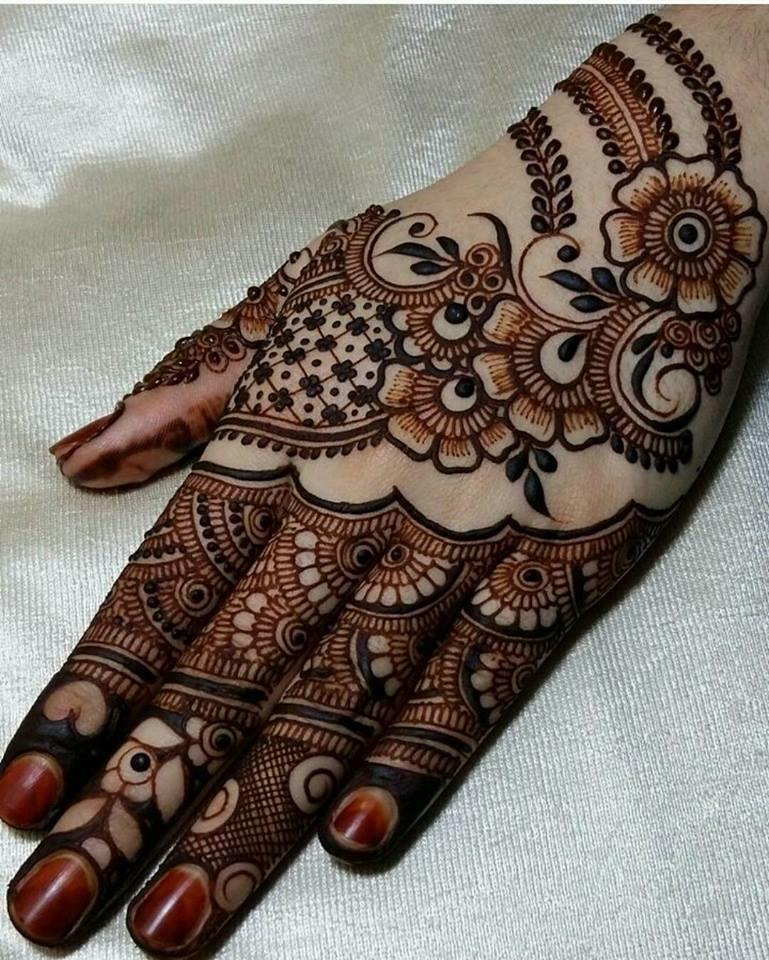 Mehndi Designs Back Side Simple : Best hand back side mehndi design fashion beauty