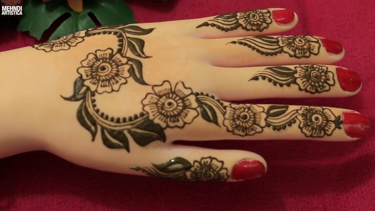 Simple Flower Mehandi Designs