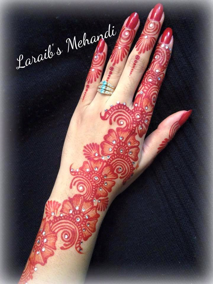 Mehndi Designs For Hand Fingers : Best arabic henna design for fingers fashion beauty