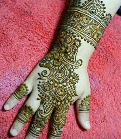 best 11 arabic henna stylish pattern for back hand