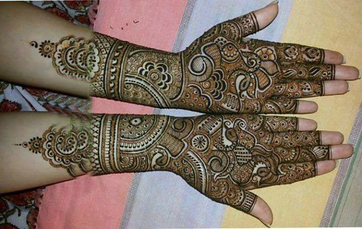 Awesome Hand Floral Style Mehndi Designs