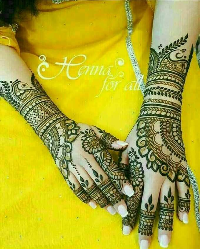 Best 13 Back Hand Unique Mehndi Designs For Party