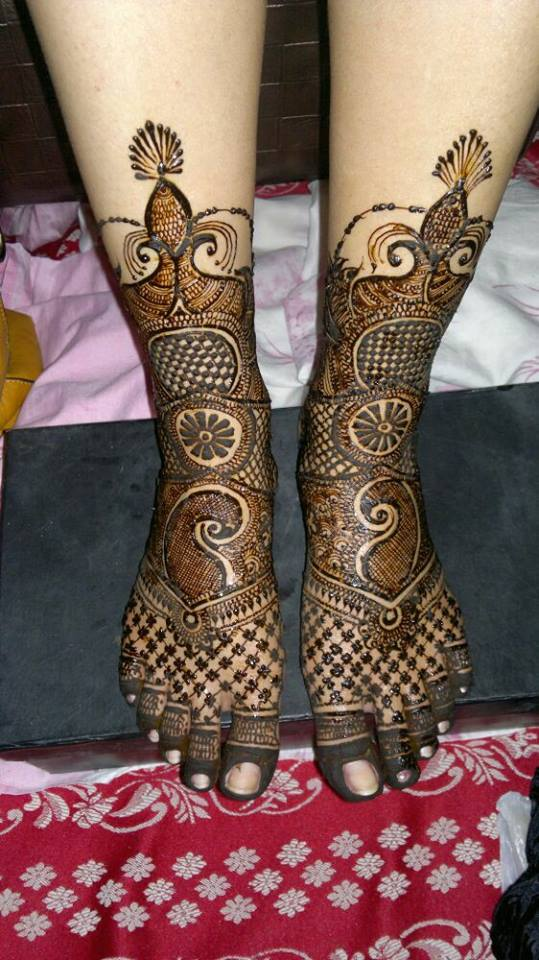 Beautiful Arabic Bridal Mehndi Designs For Legs Fashion