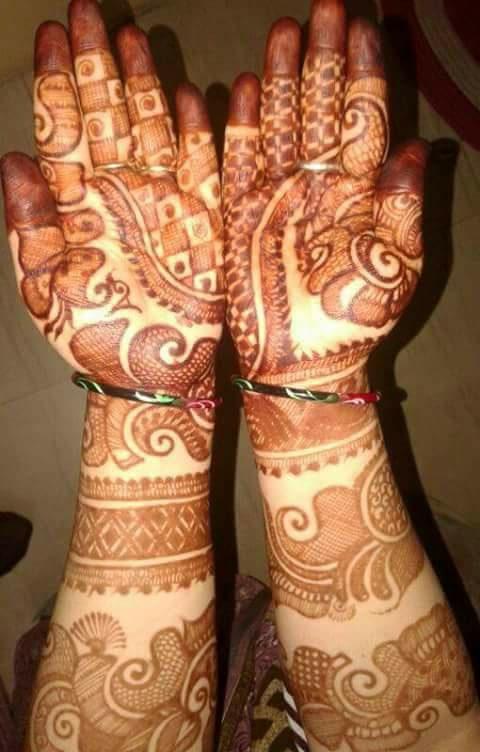 unique bridal mehndi design for hands   fashion beauty
