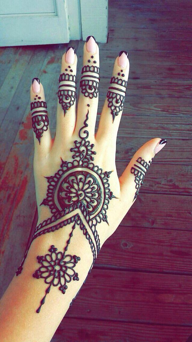 Pretty Henna Designs: Best Beautiful Finger Henna Designs