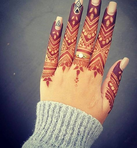 best beautiful finger henna designs   fashion beauty