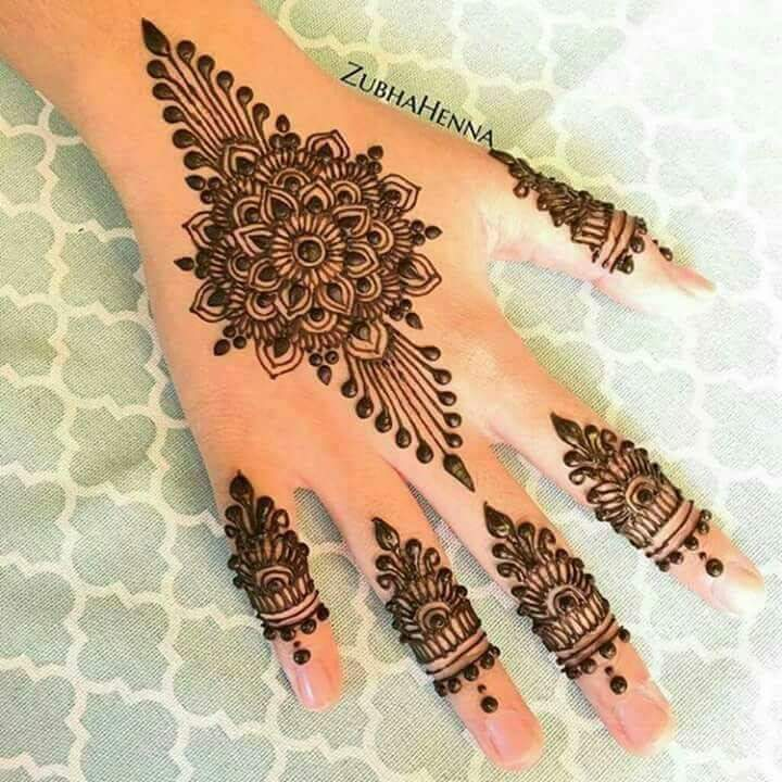 Best 15 Floral Style Back Hand Henna Designs Fashion Beauty Mehndi