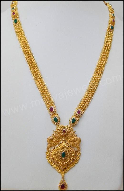 trendy gold long haram design fashion beauty mehndi