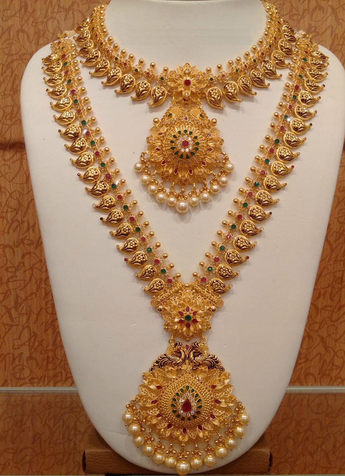 Trendy Gold haram Necklace set - Fashion Beauty Mehndi ...