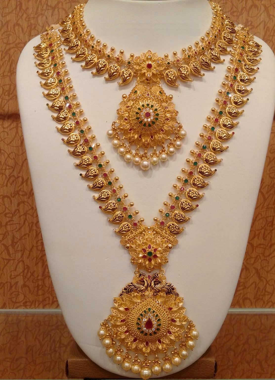Trendy Gold haram Necklace set - Fashion Beauty Mehndi