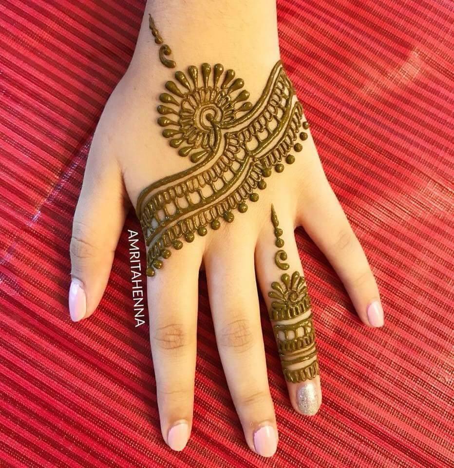 Easy New Fingers Mehndi Designs Fashion Beauty Mehndi Jewellery