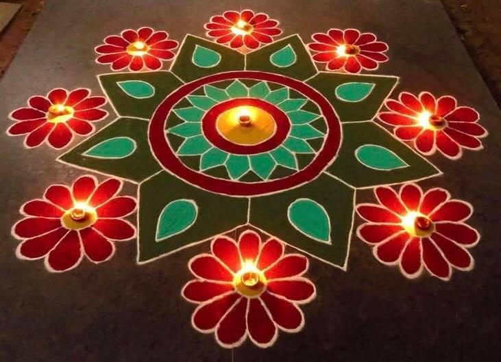 rangoli designs with colors   fashion beauty mehndi