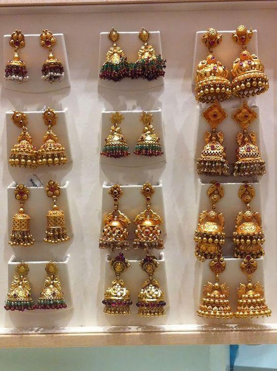 Beautiful Designs Of Gold Jhumkas Fashion Beauty Mehndi