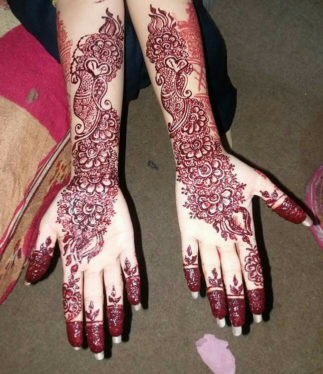creative henna floral designs on hands   fashion beauty