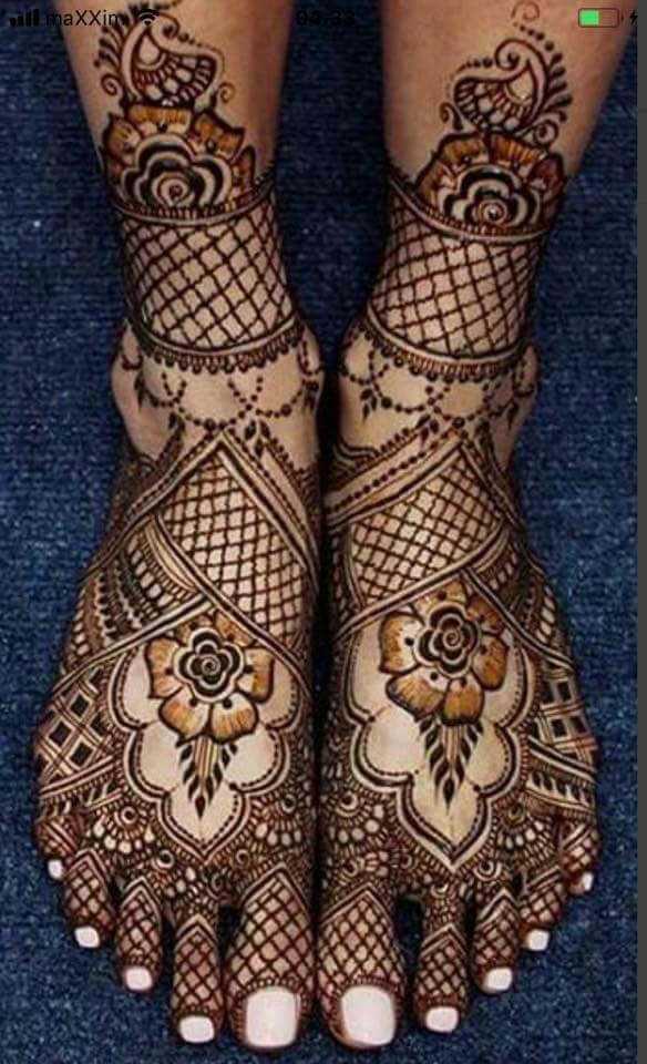 Easy Beautiful Foot Mehndi Design Fashion Beauty Mehndi Jewellery