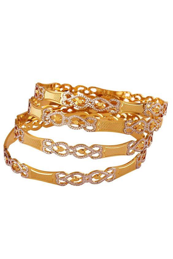 Gold Bangles Set Fashion Beauty Mehndi Jewellery Blouse