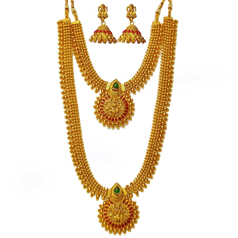 Best Gold long chain jewellery designs Fashion Beauty Mehndi