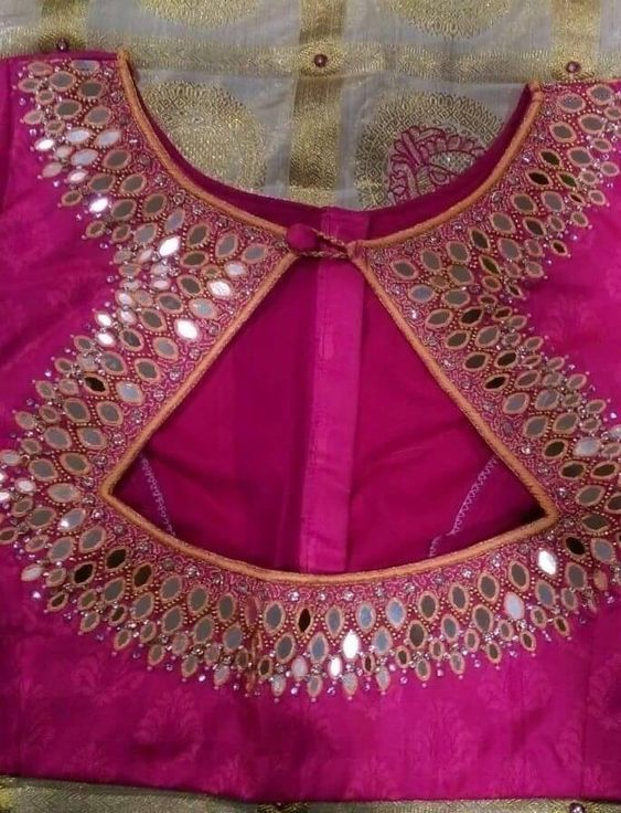 Simple Mirror Work Blouse Designs Fashion Beauty Mehndi