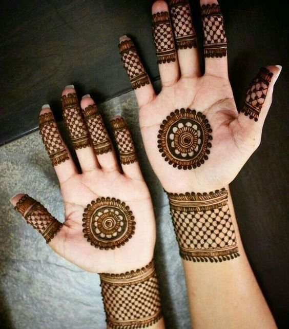 best simple mehndi designs for front hand