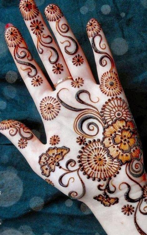Henna Tattoo Haram: Best Collective Designs For Front Hand Mehendi Designs