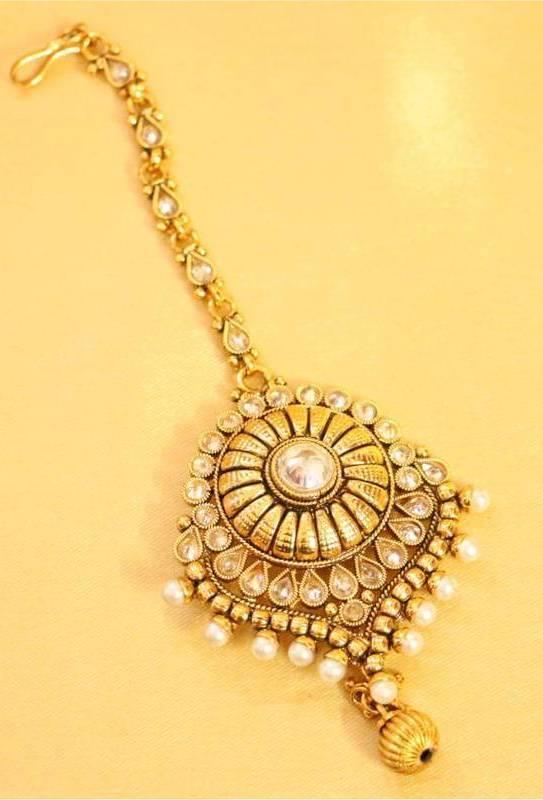 Gold Maang Tikka Designs Fashion Beauty Mehndi Jewellery