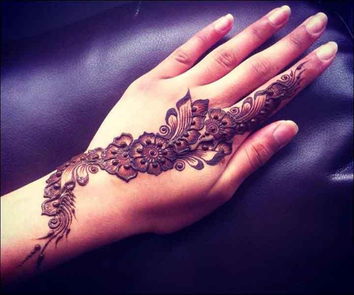 Simple Henna Back Hand Mehendi Designs Fashion Beauty Mehndi