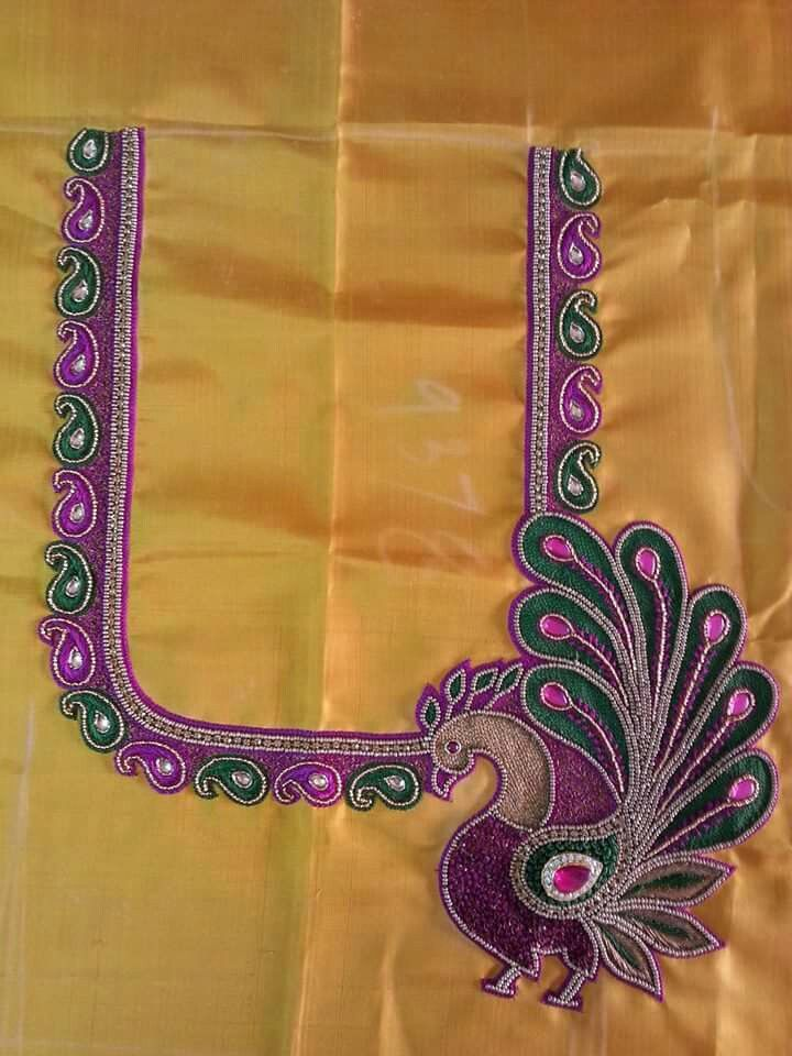 Aari Work Blouse Designs Catalogue Fashion Beauty Mehndi