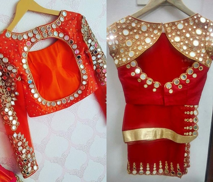 Boat Neck Wedding Blouse Designs Fashion Beauty Mehndi
