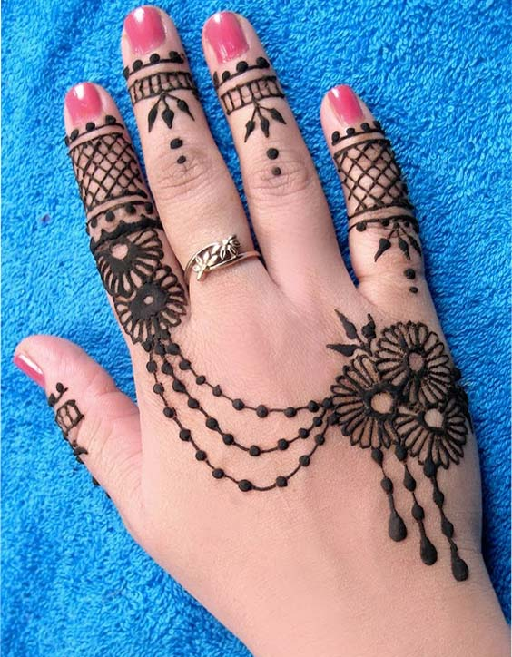 Simple Designs Of Back Hand Mehendi Designs Fashion Beauty Mehndi