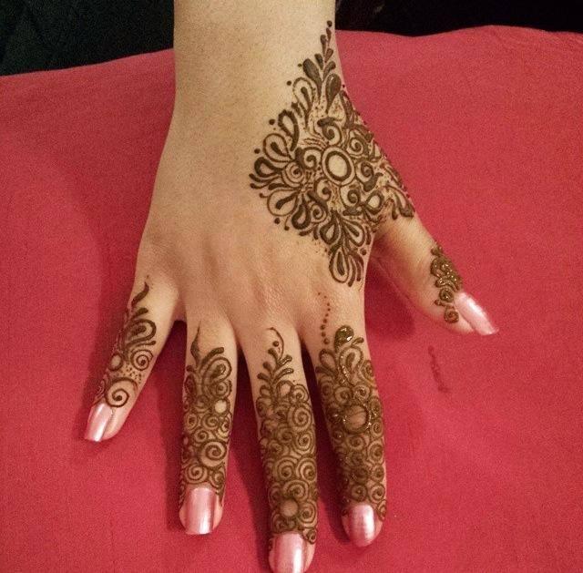 Simple Designs Of Back Hand Mehendi Designs