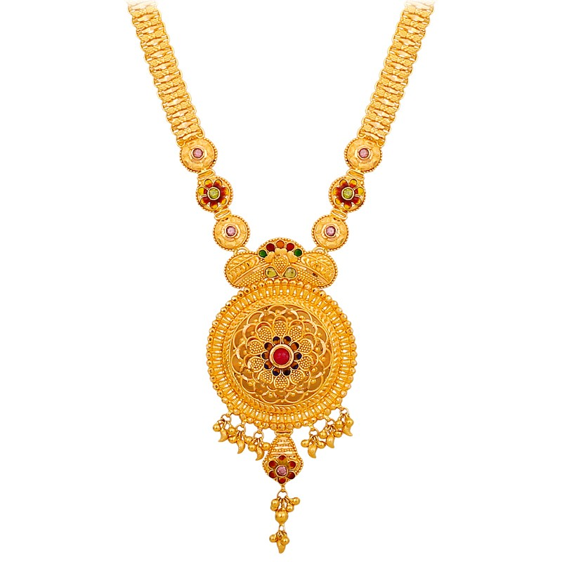 Beautifull Simple Designs Gold Necklece Haram Fashion Beauty