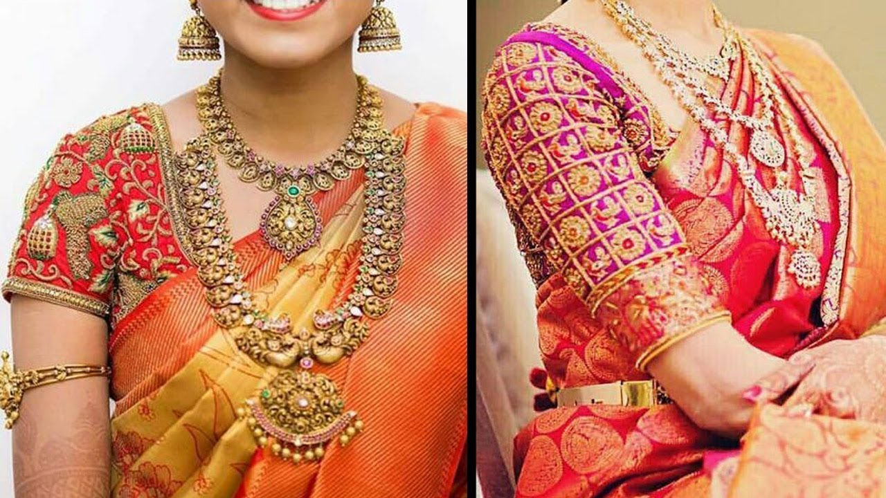 Latest Blouse Designs For Wedding Sarees