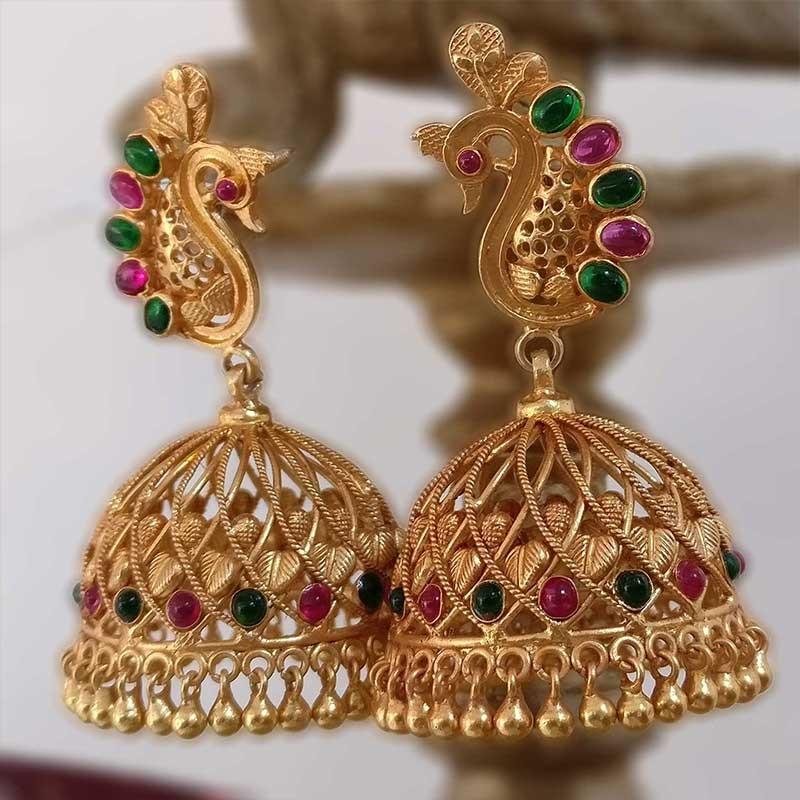 Latest Peacock Gold Jhumkas Designs Fashion Beauty