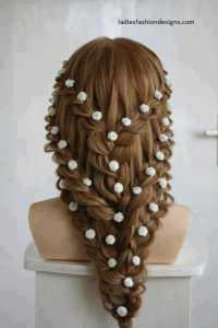 New Trendy Hairstyle Designs Fashion Beauty Mehndi Jewellery