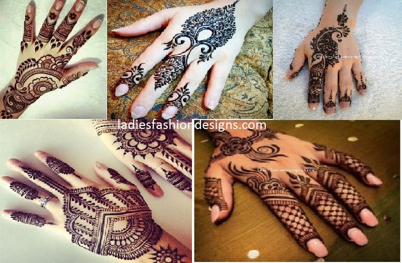 Simple Arabic Back Hand Mehandi Designs