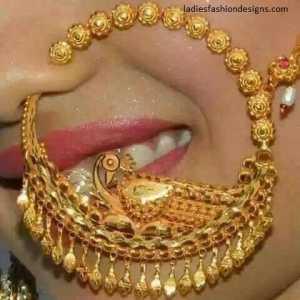 Beautiful Bridal Stylish Nose Ring With Long Chain Style Fashion