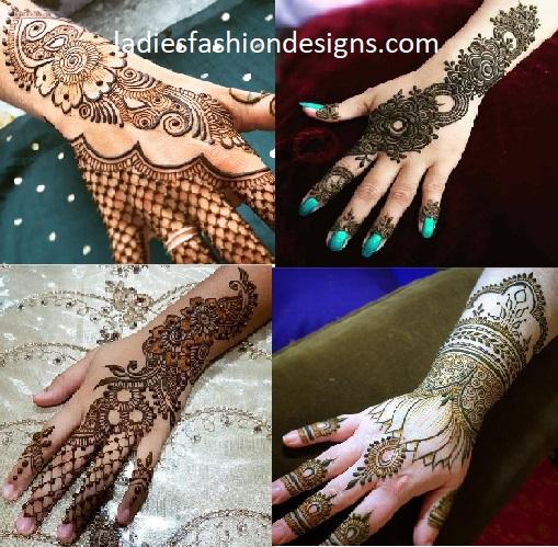 Basic Simple Back Hand Mehndi Design For Weddings