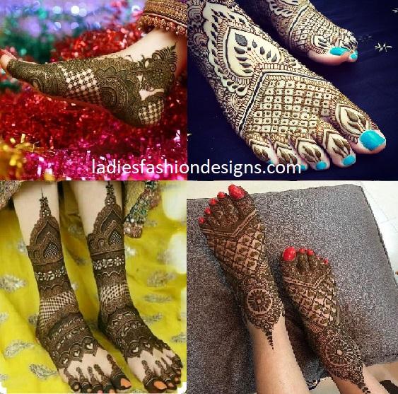 Bridal Latest Feet Mehandi Designs For Legs