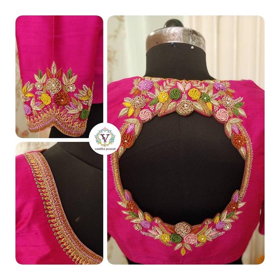 Back Neck Blouse Design